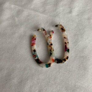 🟡Colorful Oval Hoop Earrings